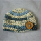 Basic Woollen Beanie with Oversized Button / Hat / Size 1 - 2 Years