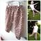 Pink Leopard Harem Pants - girl, Winter, baby, toddler, brown, bloomers