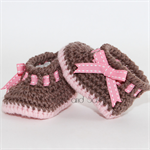 Crocheted My Angel Baby Booties. Size 0-3 months - 6-12 months