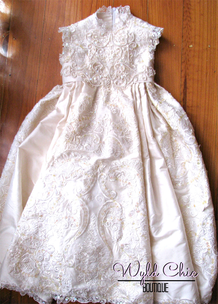 Christening Gown (upcycled From Wedding Dress)