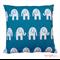 "Blue Elephants Cushion Cover 18"""