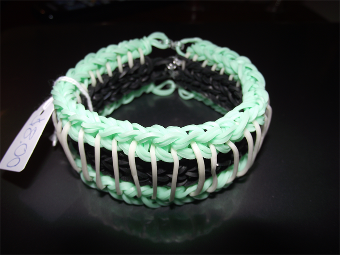 Rainbow loom bracelet sailors pinstripe advance design ...
