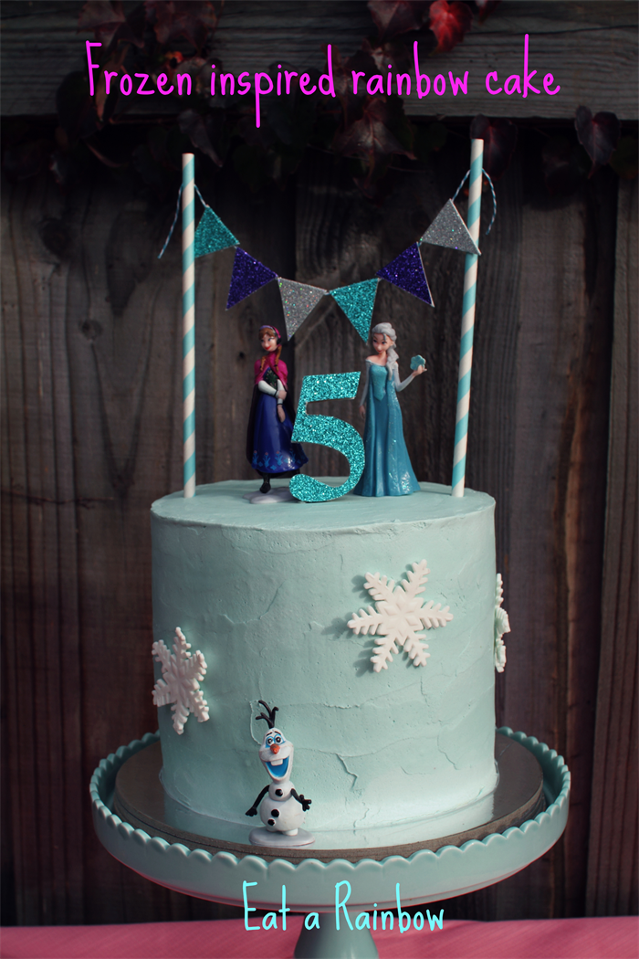 Frozen Cake Topper Cake Bunting Set Eat A Rainbow
