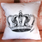 """Hand Painted Baby Pink Crown Cushion Cover 14"""""""