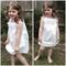 Lace ruffle dress. Size 2-3