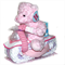 Teddy Bear Pink Girl Motorbike Nappy Cake Large Baby Shower Gift On Sale