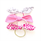 Dolly Bow Hair Ties - Leopard Print - Gold Grey Pink