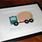 Personalised Handcrafted Cement Truck Artwork