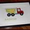 Personalised Handcrafted Dump Truck Artwork