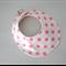 DRIBBLE BIB - Buy 3 get the 4th Free - Neon spot pink on trend modern look