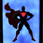 Superman, Man of Steel 75th wax sculpture candle art led light