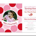 Printable Birthday Party Invitation - Polka Dot
