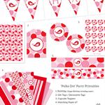 Printable Birthday Party Collection - 'Polka Dot'