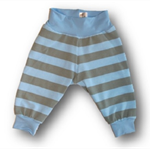 SIZE 00 Baby Blue grey Stripe Banded Pants