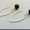 Argentium Sterling Silver range - glossy black onyx bead earrings