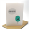 Congratulations Card - Turquoise Bird with Grey Speech Bubble - CON007