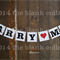 MARRY ME BANNER Wedding Engagement Garland Bunting Decoration Photo Prop