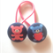 Teddie fabric button hairties