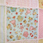 Sold - Shelly Beach Mkt -Girls Rag Quilt - Soft Pastels with Vintage Baby fabric
