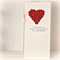 Wedding card for money, voucher, gift card, wishing well red paper roses heart