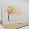 Sympathy Card - With Deepest Sympathy - Orange Autumn Tree - WDS008