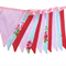 Vintage Style Country Roses Flag Bunting. Shabby Chic, Party,