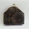 Black, grey and gold coin or makeup purse - Free Postage