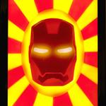 Iron Man Mask LED light, hanging wax sculpture