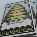 letterpress personalised notecards pack of 20