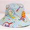 Boys Blue Bug Reversible Bucket Hat - 3-6mths