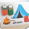 Happy Birthday Card - Male - Camping with Tent Sleeping Bags - HBM028