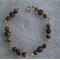 African Roar Tigers Eye & Gold Link Bracelet