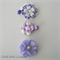 Set of 3 Purple & White Hair Clip - Baby, Toddler, Girl