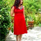 Redressd Red or Black Cowl Dress