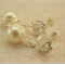 ~ BAROQUE PEARL~ sterling silver Swarovski earrings, classic elegant, ivory