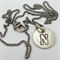 Initial charm necklace: