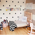 72 Triangle Wall Sticker Decal Wall Paper Home Decor Children Kids Bedroom