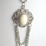"""WHITE STONE"" Necklace"