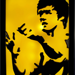 Bruce Lee in Game of death led light lamp wax candle art