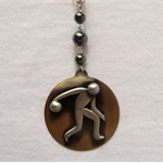 """BOWLING MAN"" Necklace"