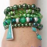 """""""ST. PATTYS"""" bracelet stack"""