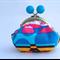 Little Dumpling Coin Purse - mod colourful geometric with kiss lock closure