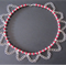 Gothic Style Beaded Necklace - Deep Red