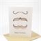 Happy Birthday Card Male - 3 Moustaches Vintage Brown - HBM041