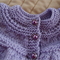 Size 0 - 6 months : Baby jacket/cardigan in purple