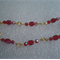 Czech beaded fire polished gold link bracelet