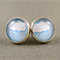 Stud Earrings - Rainy Day Glass Cabochon
