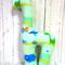 Handmade Giraffe Rattle - Dinosoar Green