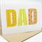 Happy Birthday Card - Male - DAD - apha text - Father's Day Card - HFD008
