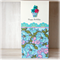 Birthday card for her paper roses vase florals hot pink and turquoise